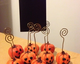 Halloween Pumpkin Photo Placecard holders