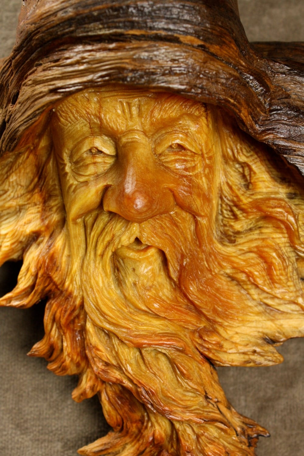 On hold for sue not four salewood spirit wooden carving