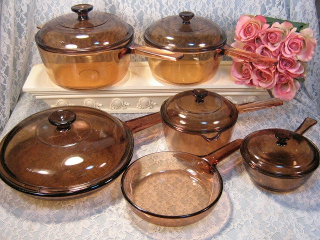 Corning Glass Cooking Pots