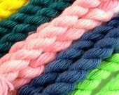 Hand Dyed Wool Sock Yarn Mini Skeins - Pick Your Color