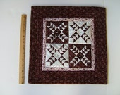 Burgundy and White Flying Geese Miniature Quilt
