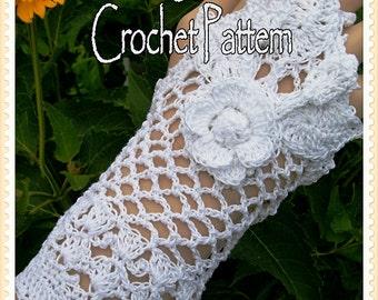 Brides Fingerless Glove Crochet Pattern PDF - INSTANT DOWNLOAD