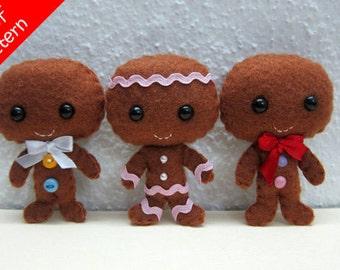 Gingerbread Man PDF Pattern -Instant Digital Download