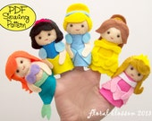 Digital Pattern: Princess Felt Finger Puppets
