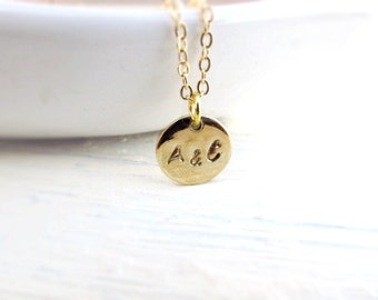 Two Initial Necklace, Gold Initial, Double Initial Necklace, Personalized Necklace, Boyfriend Girlfriend, Couples Necklace, Valentine's Day