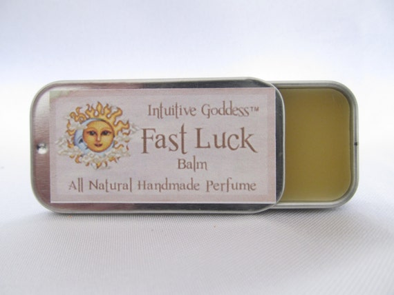 Fast Luck Balm Solid Natural Perfume Manifesting Money Drawing Luck in Love