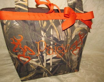Camo purse max 4hd advantage camo he she buck doe purse - pocketbook - small tote- shoulder bag you choose name