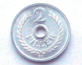 1965 Hungary 2 Filler Coin