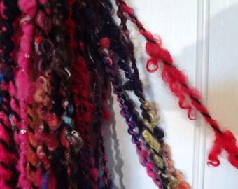 Nocturnal Gravity handspun yarn 87 yds & 5.5 oz