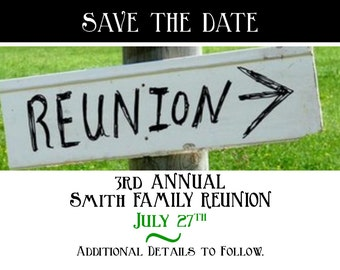 "Save the Date Photo Card ""Reunited"""