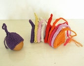 Egg cozy / egg warmer in red, white, yellow, orange, pink and purple