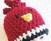 Baby Cardinal Beanie Hand-crocheted Arizona Cardinals Football Inspired Hat By Distinctly Daisy