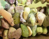 Strand genuine AFRICAN TURQUOISE gemstone chip beads
