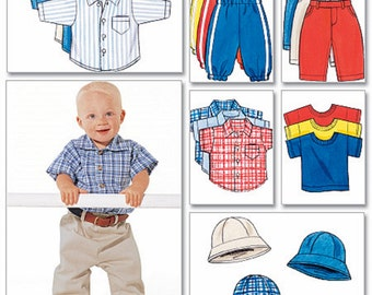 Baby Boy Pants Pattern, Toddler Boy Shirt and Pants Pattern, Infant Boy Pants Pattern, Butterick Sewing Pattern 5510