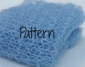 KNITTING PATTERN Fine Lacy Wrap Photo Prop, Newborn Swaddler, Mini Blanket, Instant Download