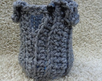 Thermal Beverage Cozy - Gray - Hot or Cold Drink Sweaters