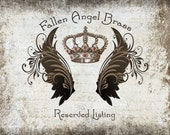 For Pat - Special Listing - Fallen Angel Brass, black antiqued brass, made in the USA