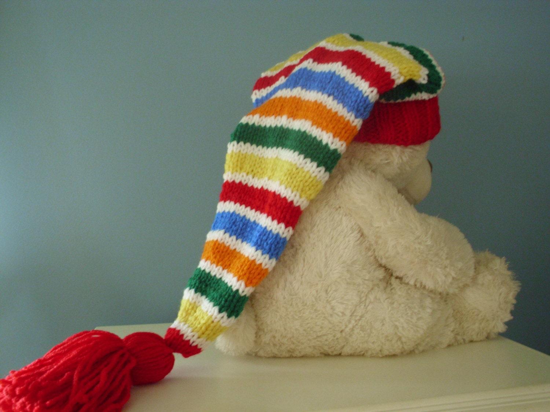 Long Knit Stocking Cap 14
