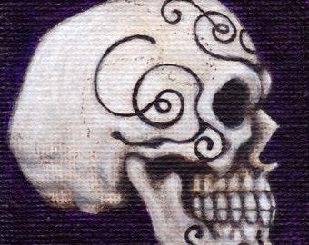 """Sugar Skull II - 4""""x 4"""" print"""