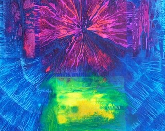 Light As Force - Original Mixed Media Abstract Painting