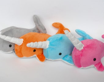 Narwhal Plush CHOOSE YOUR COLOR - Made to order