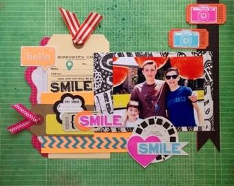 Smile Smile Smile  12x12 tammy i PreMade Page