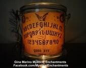 Large Halloween OUIJA Lantern candle holder ...GOOD BYE