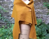 Amber Melton Wool One of a Kind Labyrinth Cape - ShardlowDesigns