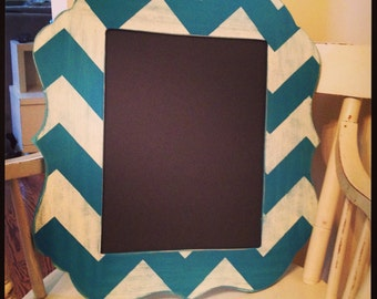 4x6 up to 16x20  Painted chevron picture frame Custom shape frame painted to match your decor -photo shows an 11x14