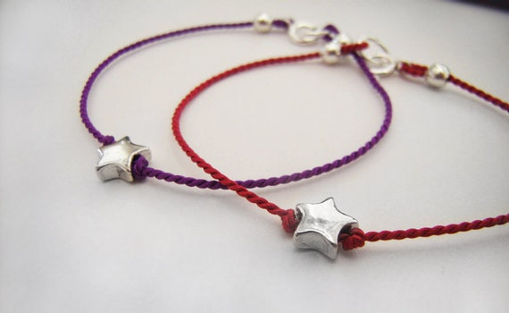 Silver Star Bracelet - Tiny Star - Baby Bracelet - Toddler Bracelet - Youth Bracelet - Choose Color - Sterling Silver - Keepsake #7-001