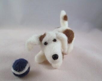 Needle Felted Dog, Needle Felted Animal, Handmade dog, Gift for Her, Felted Animals, Felted Beagle, Felt Animals, Plush Dog, Miniature Dog