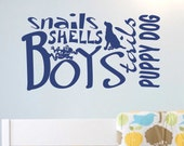 Vinyl Wall Lettering Quotes Nursery Baby Boy Art Word Collage Decal