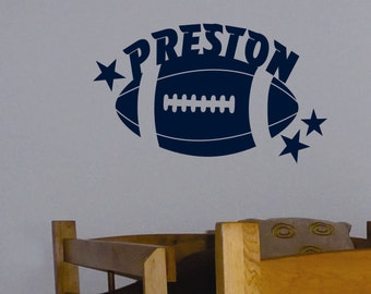 Football Star Name, Football Quote, Vinyl Wall Lettering, Vinyl Wall Decals, Vinyl Decals, Vinyl Letters, Wall Quotes, Sports Decal