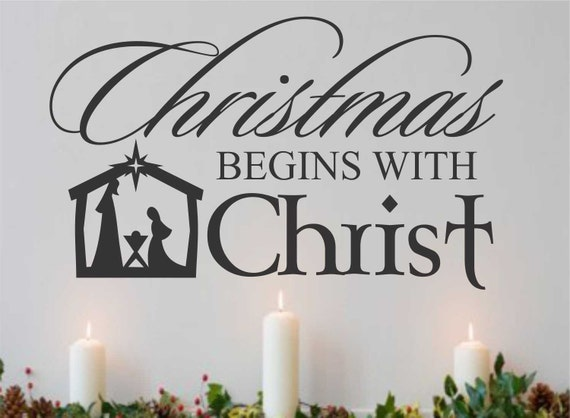 Christmas Decorations And Quotes : Christmas begins with christ quote nativity holiday