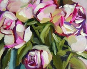 Blushing Roses no. 10 original floral rose oil painting by Angela Moulton 8 x 10 inches on canvas prattcreekart can ship January 28
