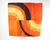 Vintage Brown and Orange Super Mod 1960s Scarf