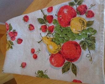 Apple and Pear Theme Vintage Tea Towel