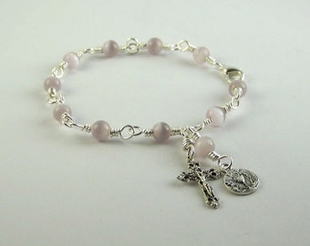 Lavender Holy Communion Bracelet