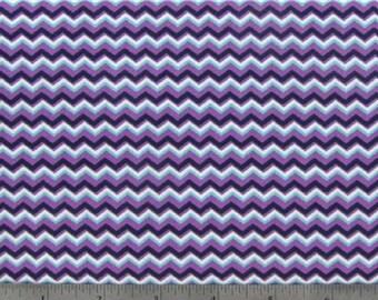 Purple Zig Zag - 1 yard