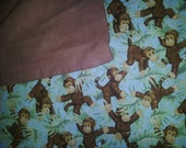 Child's Monkey Blanket Perfect for Naptime!
