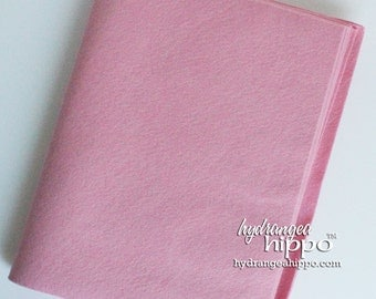 10 Sheets - BLOSSOM PINK- Wool Blend Felt - 12 x 18 inch sheets