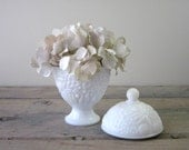 Avon Milk Glass Lidded Compote Jar