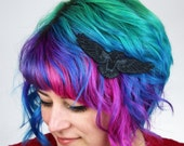 Raven Hair Clip, Poe Inspired, Your Choice of Barrette, Aligator or Snap Clip