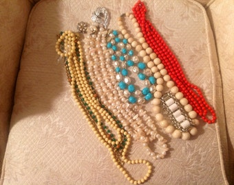 Vintage Old Jewelry Lot Destach Variety Arts Crafts Redesign/ FREE USA SHIPPING