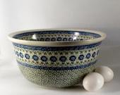"Polish Pottery 11"" Mixing Bowl"
