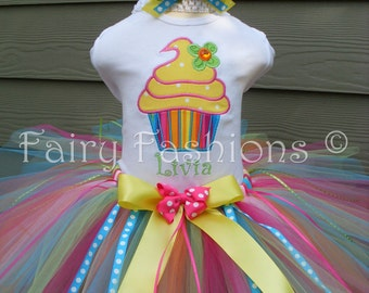 Custom Tutus...TUTTI FRUTTI,  tutu set with name...3,6,9,12,18,24 months and 2T,3T,4T,5T,6Tcostume, birthday, dress up
