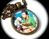TROUBLE with TRIBBLES . Glass Pendant Necklace . RETRO Star Trek . Space . Sci Fi . GirlGameGeek