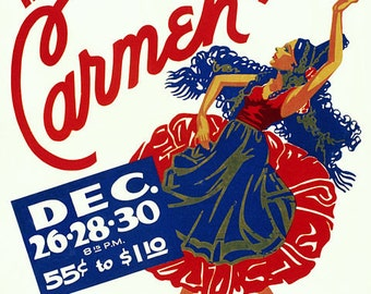 WPA Carmen poster image suitable for framing