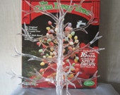 """Centerpiece Tree Gum Drop Stand Candy Dish Stand Old Fashion Christmas 13"""" Plastic Tree"""