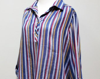 SALE vintage vertical stripes tunic // blouse of many colors